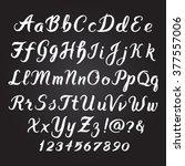 handwritten alphabet vector... | Shutterstock .eps vector #377557006