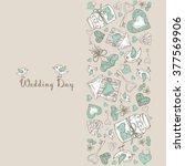 wedding card    hand drawn | Shutterstock .eps vector #377569906