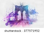 watercolor style paint... | Shutterstock . vector #377571952