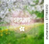 Spring Background With Blurred...
