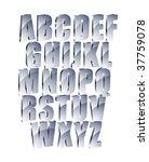 metal text. abc  vector. | Shutterstock .eps vector #37759078