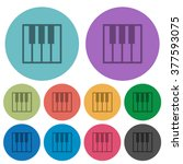 color piano keyboard flat icon...