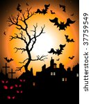 halloween night | Shutterstock .eps vector #37759549