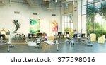 office workplace. loft office.... | Shutterstock . vector #377598016
