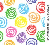 child's drawing of multicolor... | Shutterstock .eps vector #377600626