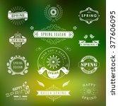 happy spring typographic design ... | Shutterstock .eps vector #377606095