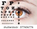 close up image of human eye... | Shutterstock . vector #377606776