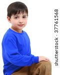 adorable six year old boy... | Shutterstock . vector #37761568