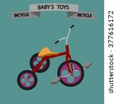 baby's toys. bicycle.  isolated ... | Shutterstock .eps vector #377616172