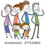 happy stylish family.  vector...   Shutterstock .eps vector #377616802