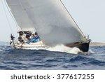 porto cervo   8 september  maxi ... | Shutterstock . vector #377617255