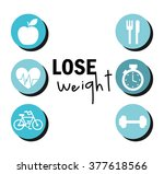 lose weight design  | Shutterstock .eps vector #377618566