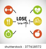 lose weight design  | Shutterstock .eps vector #377618572