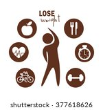 lose weight design  | Shutterstock .eps vector #377618626