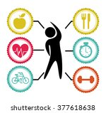 lose weight design  | Shutterstock .eps vector #377618638