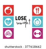 lose weight design  | Shutterstock .eps vector #377618662
