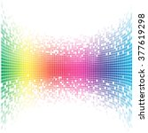 abstract concave rainbow mosaic ... | Shutterstock .eps vector #377619298