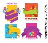 vector collection of bright... | Shutterstock .eps vector #377620096