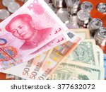 Chinese Bank Note In Front Of ...