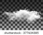 realistic vector cloud on... | Shutterstock .eps vector #377634385