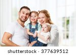 happy family mother  father and ... | Shutterstock . vector #377639512