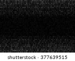 gradient fall off binary code...   Shutterstock .eps vector #377639515
