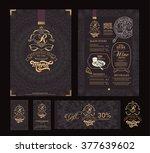 vector restaurant menu template ... | Shutterstock .eps vector #377639602
