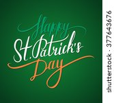 st. patrick's day greeting. st. ... | Shutterstock .eps vector #377643676