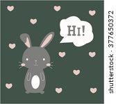 cute bunny illustration | Shutterstock .eps vector #377650372