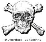 Skull And Crossbones   Hand...