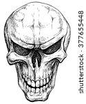 Angry Skull   Hand Drawn Vector ...