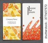 set of vector design templates. ... | Shutterstock .eps vector #377657572