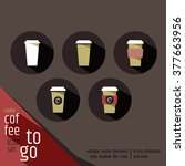 take away coffee sign icon set. ...