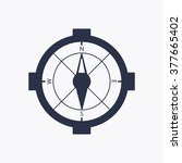 compass   icon   isolated. flat ...