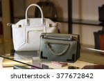 there are two handbags on a... | Shutterstock . vector #377672842