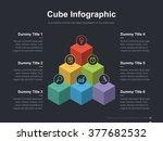 Flat business presentation vector slide template with block diagram | Shutterstock vector #377682532