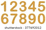 numbers set recycled paper... | Shutterstock . vector #377692012