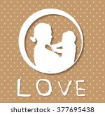 mother and son stylized vector...   Shutterstock .eps vector #377695438