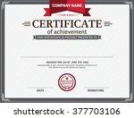 certificate template vector... | Shutterstock .eps vector #377703106