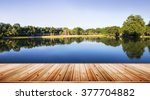 natural forest garden and river ... | Shutterstock . vector #377704882