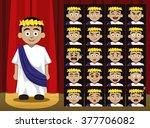 boy greek roman costume cartoon ... | Shutterstock .eps vector #377706082