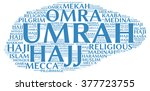 umrah info text  word cloud  ... | Shutterstock . vector #377723755