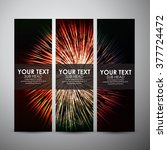 vector banners set with...   Shutterstock .eps vector #377724472