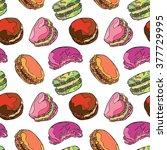 macaroon. dessert   candy.... | Shutterstock .eps vector #377729995