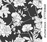 floral hand drawn vintage... | Shutterstock .eps vector #377730868