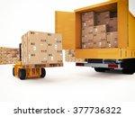 prepare shipping | Shutterstock . vector #377736322