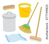 equipment tool cleaner... | Shutterstock .eps vector #377749822