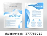 vector flyer template design.... | Shutterstock .eps vector #377759212