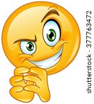 sneaky emoticon | Shutterstock .eps vector #377763472