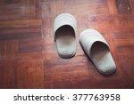 mother's slipper. it's look old. | Shutterstock . vector #377763958